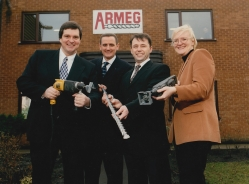 Murray Johnstone helps fund MBO at Armeg. Left to right: Andy Needham (Murray Johnstone), John Mowthorpe (sales and marketing director, Armeg), Mark Goodison (managing director, Armeg), Sarah Pullan (Murray Johnstone).