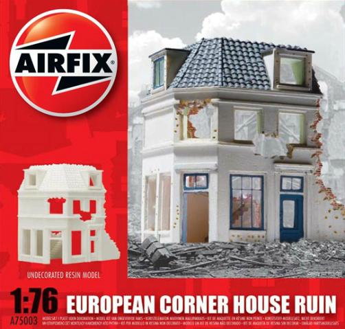 European Corner House Ruin